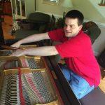 John Pastorius tuning a piano