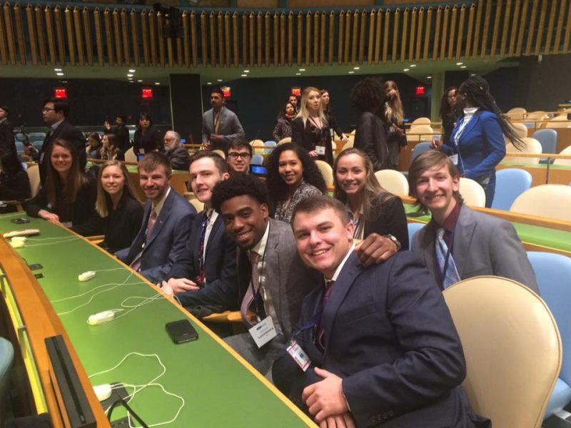 Model UN delegates