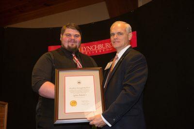 Zachary Betterton receives the John G. Eccles Leadership Award