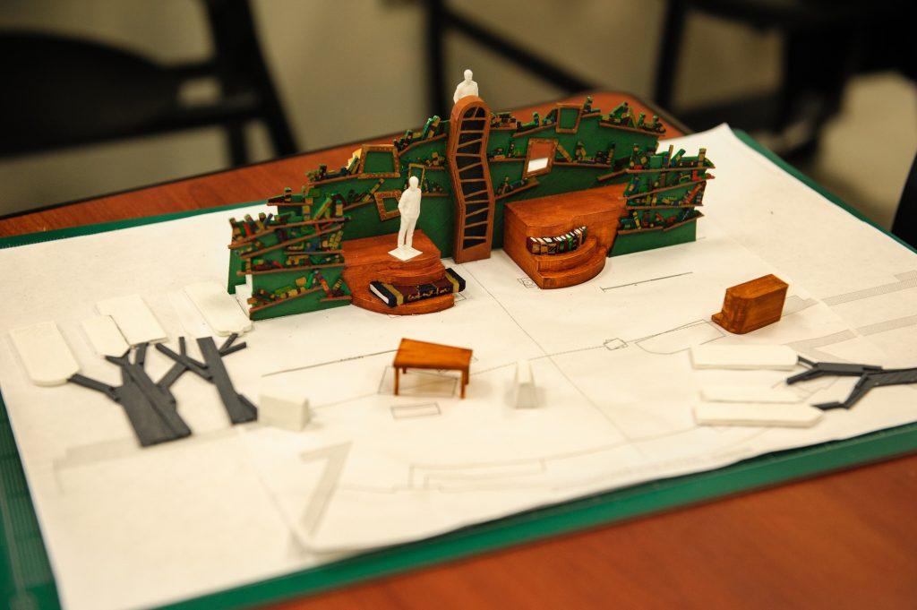 A theatre scene design printed in 3D