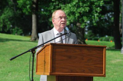 Ken Garren speaks at name change ceremony