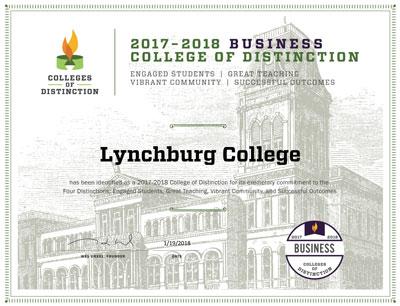 University of Lynchburg Business Certificate image
