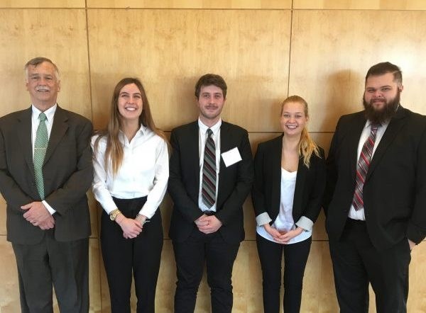 Mike Schnur and Federal Reserve Challenge students