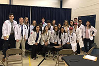 PA Medicine students and faculty at the Community Care Collaborative Lynchburg