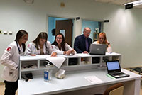 PA Medicine students and faculty working together at the Free Clinic