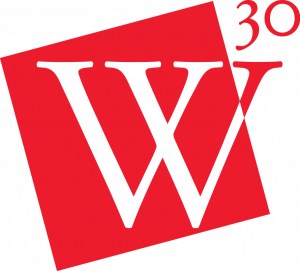 The Westover Honors 30th anniversary logo, featuring a large W and the number 30.